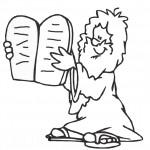 דף צביעה משה אוחז בלוחות הברית