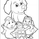 שלושת גיבורי וונדר פטס עם הכלב