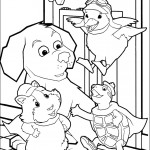 דף צביעה וונדר פטס והכלב