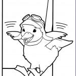 דף צביעה מינג מינג הברווזית מנתרת