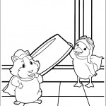 דף צביעה מינג מינג, ליני וצלחתו של הכלב