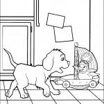 דף צביעה הכלב והברווזה