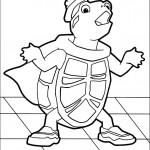 דף צביעה הצב טאק
