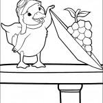 דף צביעה הברווזית הסקרנית