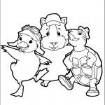 דף צביעה וונדר פטס - הגיבורים הראשיים