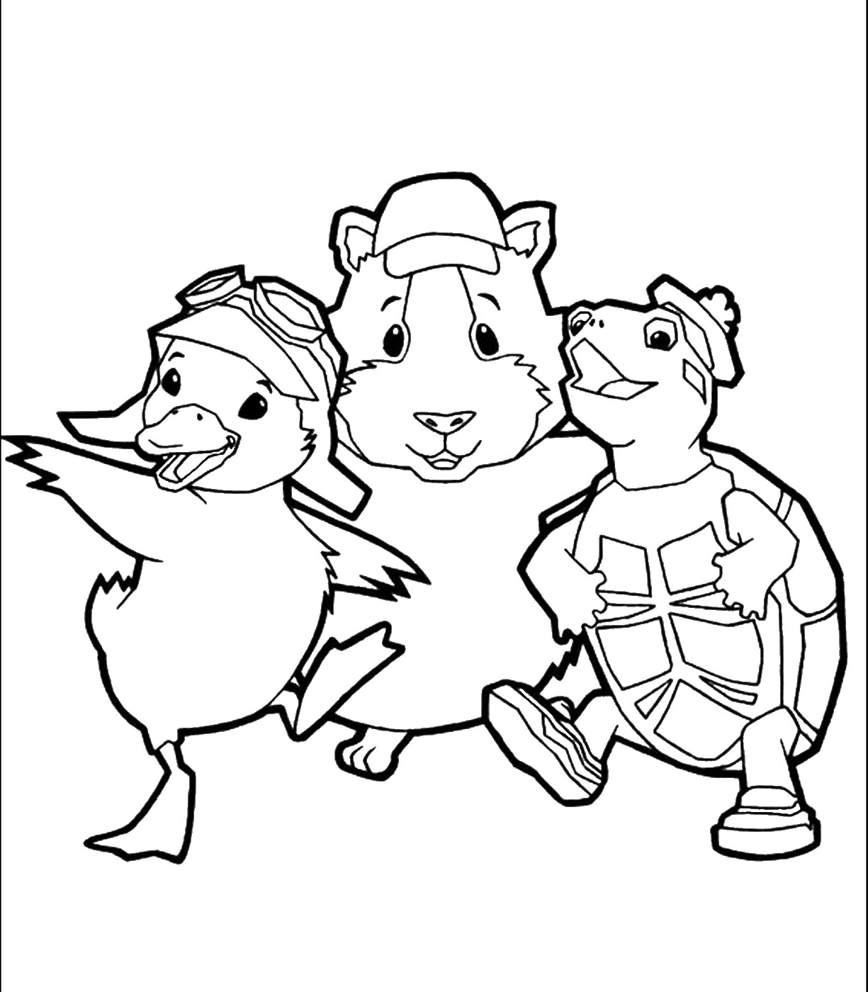 wonder pets coloring pages - the gallery for nick jr face yellow