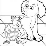 דף צביעה הכלב והצב טאק