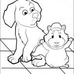 דף צביעה הכלב והשפן ליני