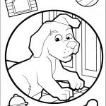 דף צביעה הכלב