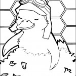 דף צביעה מינג מינג הברווזית