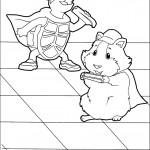 דף צביעה השפן והצב אוכלים גזר