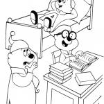 אלווין והצ'יפמאנקס בשעת לימוד