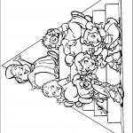דף צביעה אלווין והצ'יפמאנקס 2