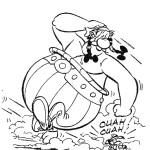 אובליקס רץ כשלצידו רץ הכלב הנובח