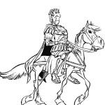 יוליוס קיסר רוכב על סוסו