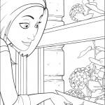 דף צביעה ונסה בחנות הפרחים