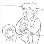 אימא של פאני מלטפת את החתולה מיטנס
