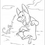 בולט ומיטנס משחקים עם מקל עץ