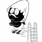 קלימרו קופץ ממקפצה לברכה
