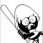 דף צביעה קלימרו משחק בייסבול