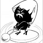 דף צביעה קלימרו מתאמן בזריקת כדור
