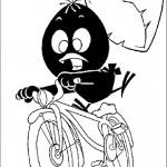 קלימרו רוכב על אופניים