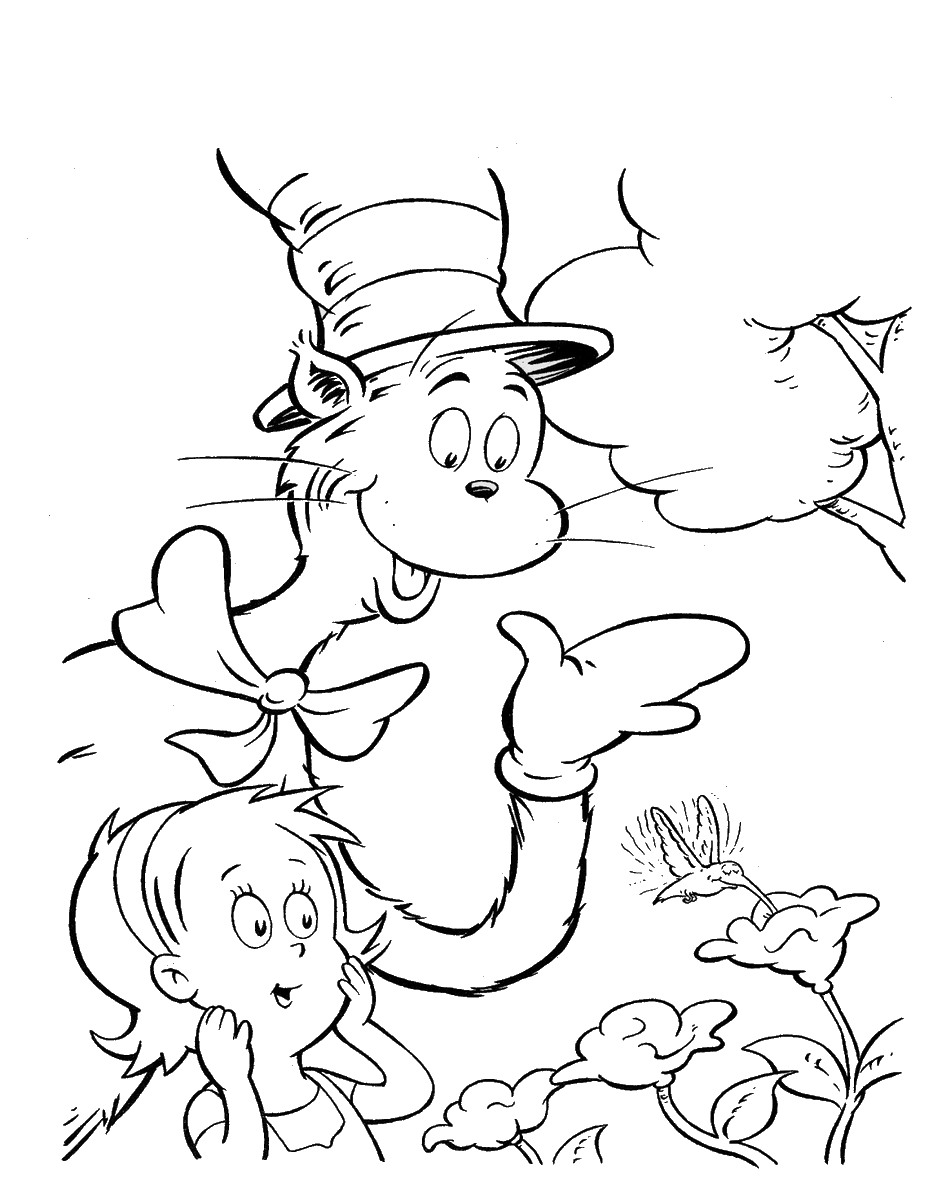 Cat In The Hat Coloring Page Home Pages