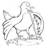 ציפור אוכלת תולעת