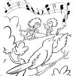 היצורים נהנים משירת הציפור