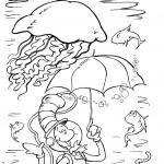 חתול תעלול צולל בים - עם מטרייה