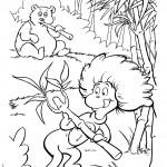 דב פנדה מתבונן ביצור של חתול תעלול