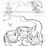 דף צביעה חתול תעלול 1