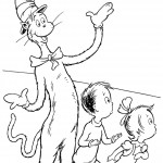 חתול תעלול משעשע את הילדים