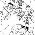 דף צביעה מרד התרנגולים 21