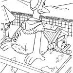 דף צביעה מרד התרנגולים 9