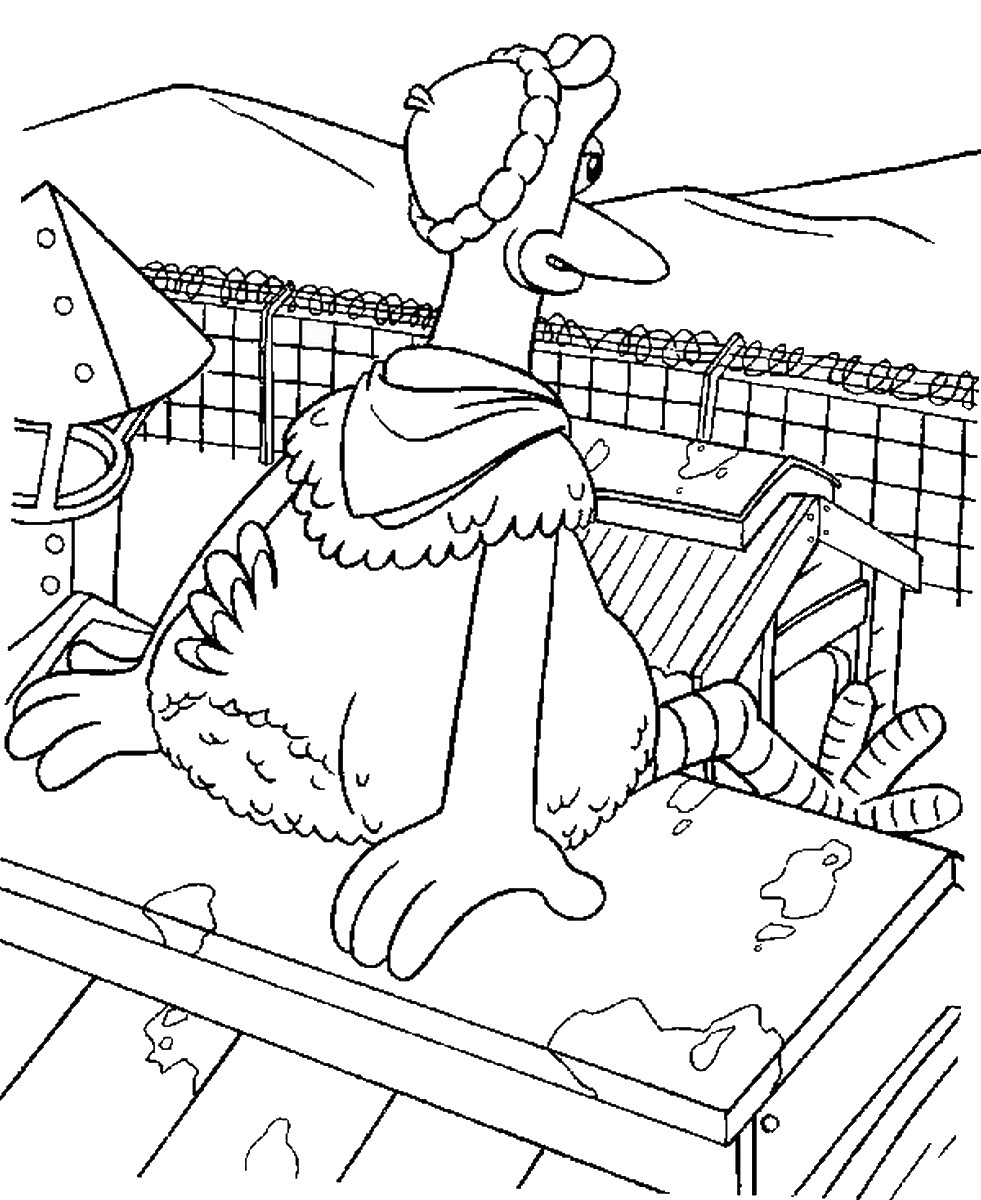 for Chicken run coloring pages