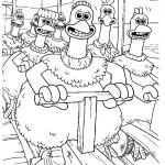 דף צביעה מרד התרנגולים 1