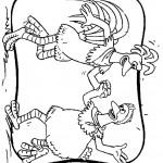 דף צביעה ריקוד התרנגולות