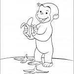 ג'ורג' הסקרן מקלף בננה