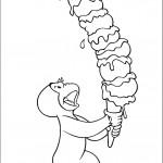 ג'ורג' מחזיק בגביע ענק של גלידה