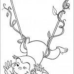 ג'ורג' הסקרן מתנדנד בין העלים