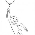 הבלון מושך את ג'ורג' מעלה לשמיים