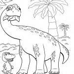דף צביעה רכבת הדינוזאורים 72