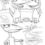 דף צביעה רכבת הדינוזאורים 71