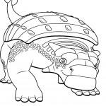 דף צביעה רכבת הדינוזאורים 70