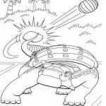 דף צביעה רכבת הדינוזאורים 1