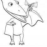 דף צביעה רכבת הדינוזאורים 69