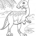 דף צביעה רכבת הדינוזאורים 67