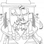 דף צביעה רכבת הדינוזאורים 66