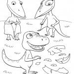 דף צביעה רכבת הדינוזאורים 65